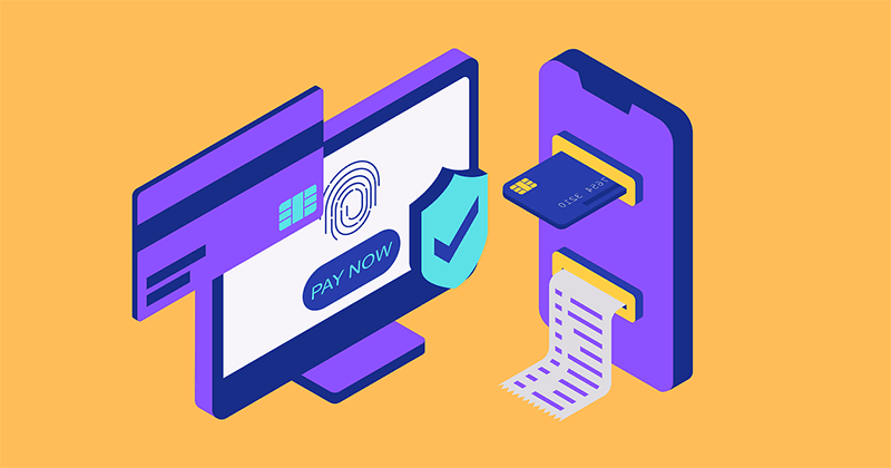 Cybersecurity secure payment illustration