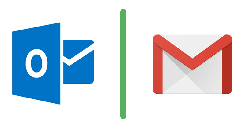 Outlook and Gmail email