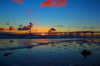 Adelaide pier sunset