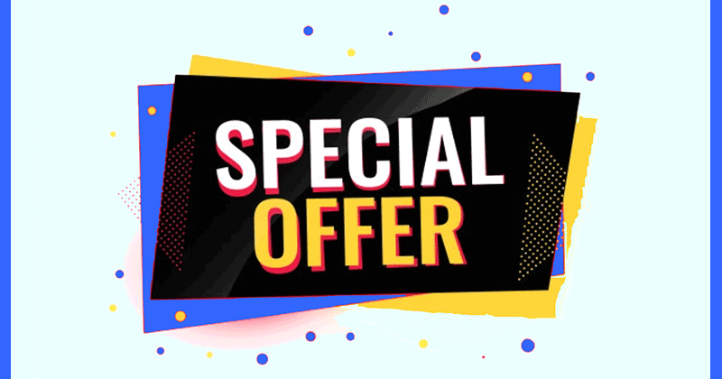 Promotional special offer